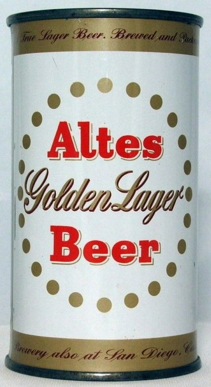 Altes Golden Lager Flat Top Beer Can