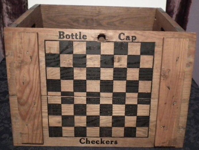 Anheuser Busch Inc. Budweiser Wooden Beer Creat Chekcer Board