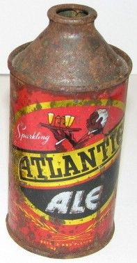 Antique Atlantic Ale Cone Top Beer Can