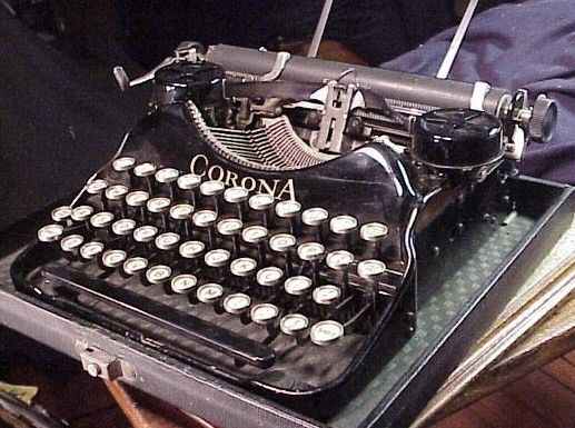 Antique Corona Portable Typewriter