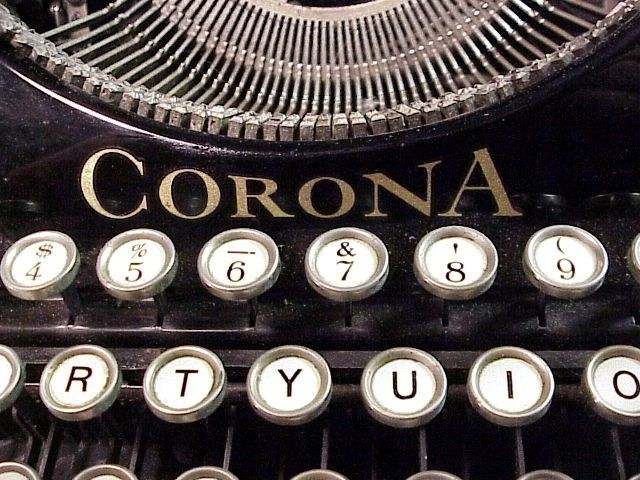 Antique Corona Typewriter Keys and Logo