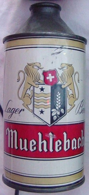 Antique Original Lager Beer Can Muehlebach Cone Top MO