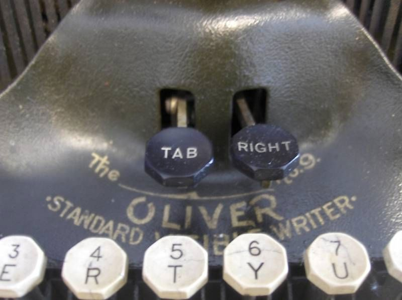 Printtype Oliver Typewriter Function Keys