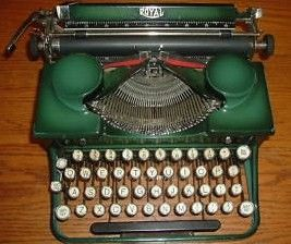 Royal Duo Green Portable Typewriter 1930s