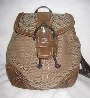 Authentic Coach Mini Signature Backpack with Suede Bottom