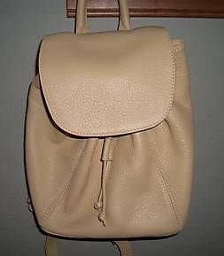 Coach Pebble Leather Backpack Cream