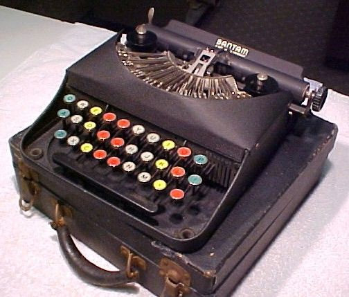 Bantam Remington Rand Typewriter with Colored Keys