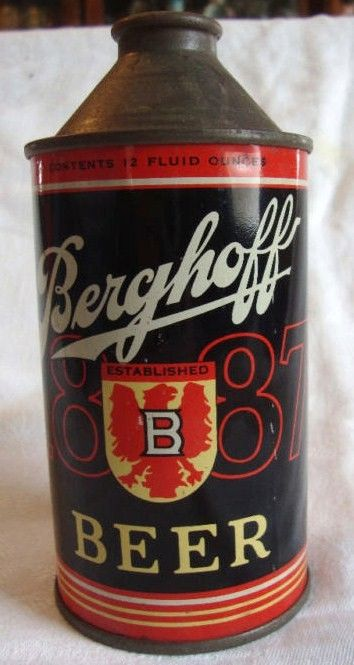 Berghoff 1887 12 oz Cone Top Beer Can