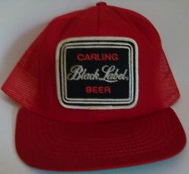 Black Label Beer Snapback Mesh Trucker Hat