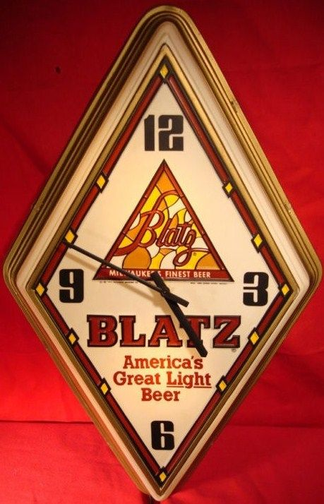 Old Blatz Beer Sign Clock