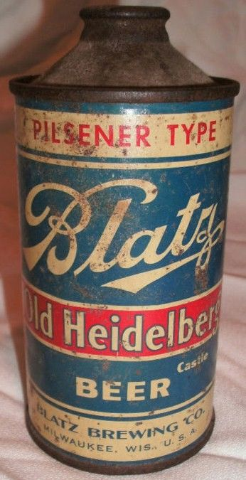 Blatz Old Heideleberg Cone Top Beer Can