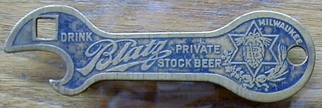 Brass Val Blatz Private Stock Beer Opener