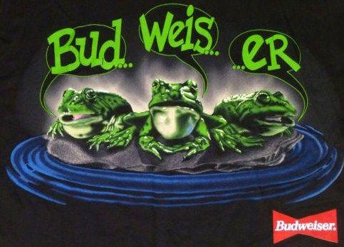 Classic Budweiser Frog T-Shirt 1995