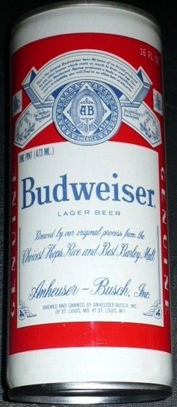 Budweiser Florida State Seminoles 16 oz Test Pull Tab Back View