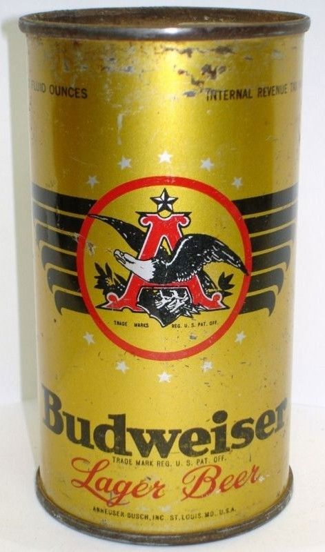 Budweiser Flat Top Beer Can