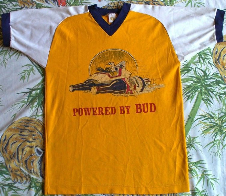 Budweiser Vintage Jersey 80's-Powered by Bud