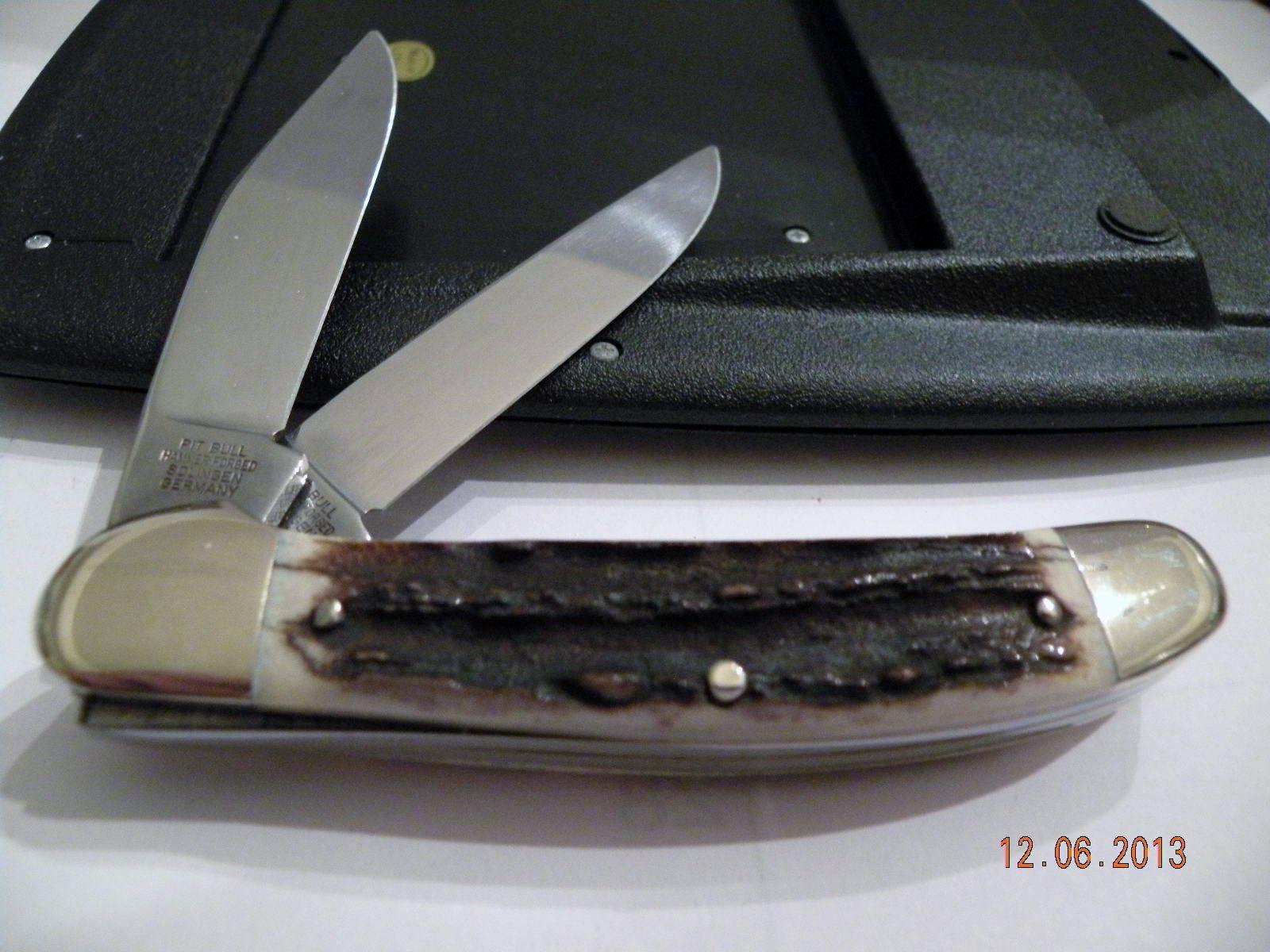 Bulldog Copperhead Pocket Knife Elk Stag Scales 1998