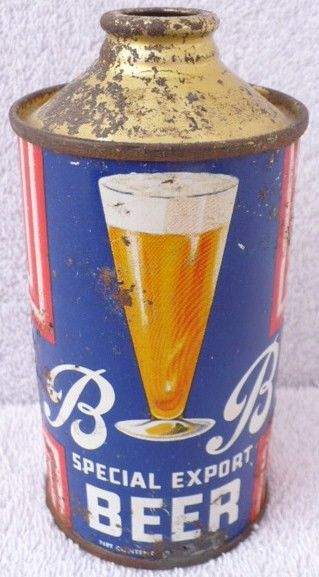 BB Special Export Beer Cone Top Can