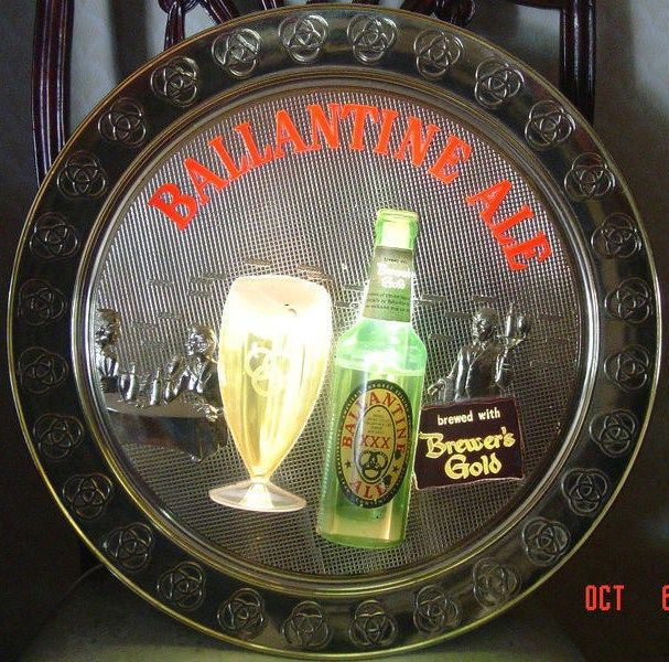 Ballantine Ale bubbling Lighted Wall Sign