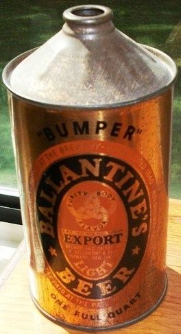 Ballantine Beer Bumper Cone Top Can Quart