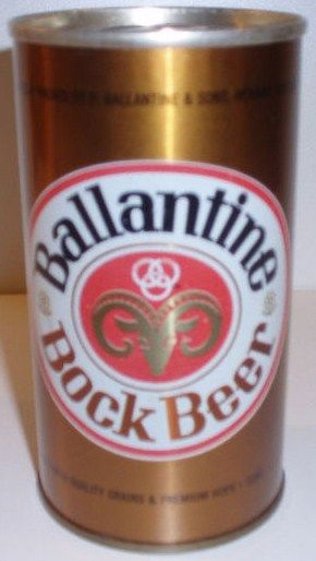 Ballantine Bock Beer Pull Tab Can