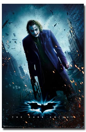 Batman Dark Knight Joker Heather Poster