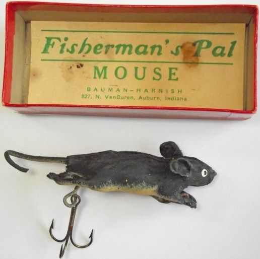 Bauman-Harnish Fishermans PalMous Lure w/Box Indiana