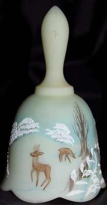 1979 Fenton Christmas Bell Custard Glass