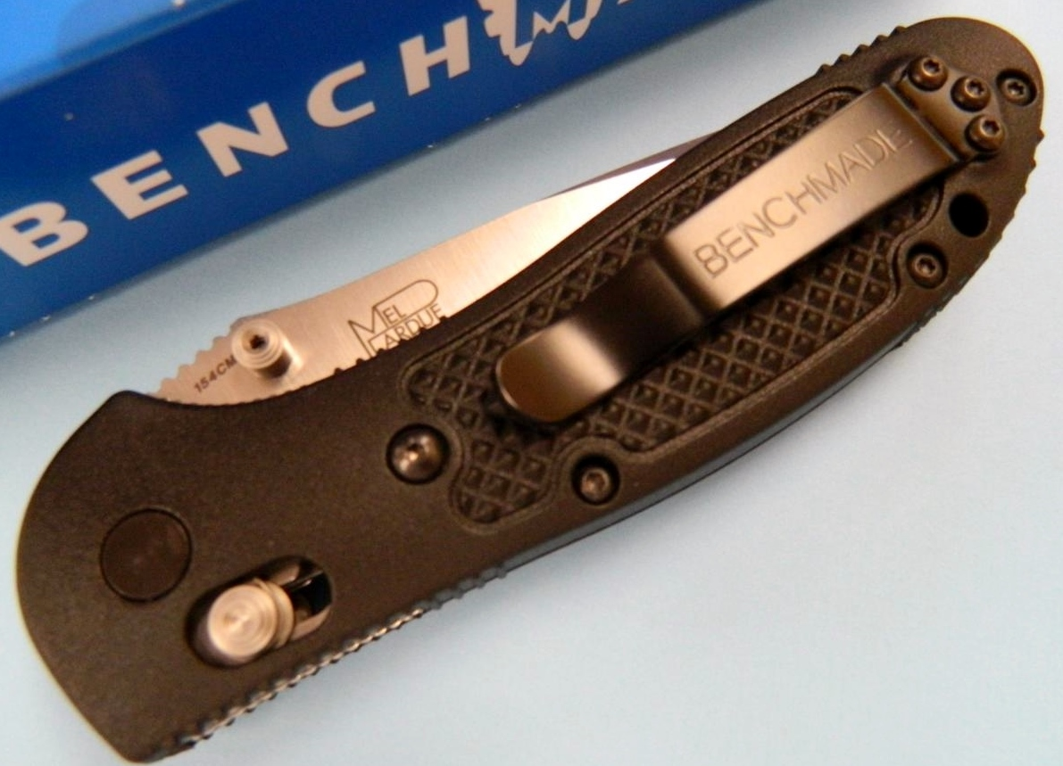 Benchmade 551 MDP Griptilian Axis Lock Knife Thumb Stud/Clip Side View