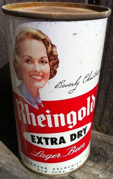 Beverly Christensen Rheingold Girl Flat Top Beer Can