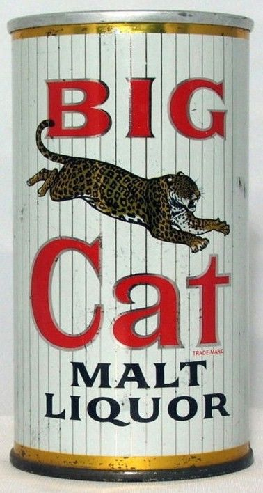 Big Cat Malt Liquor Zip Pull Beer Can/Stout Top Lid
