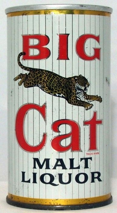 Big Cat Malt Liquor Zip Top Beer Can Stout Top Lid