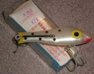 Bingo King K7X vintage fishing lure New in Box