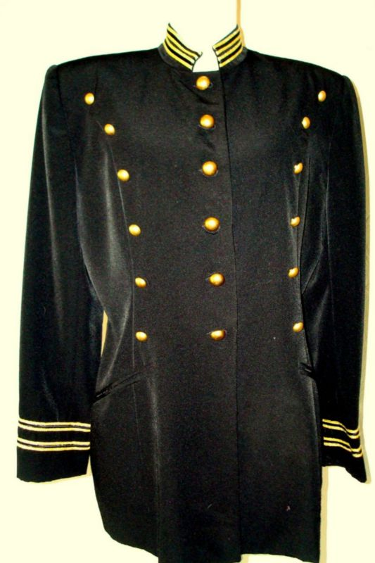 Michael Jackson Black Gold Military Style Jacket