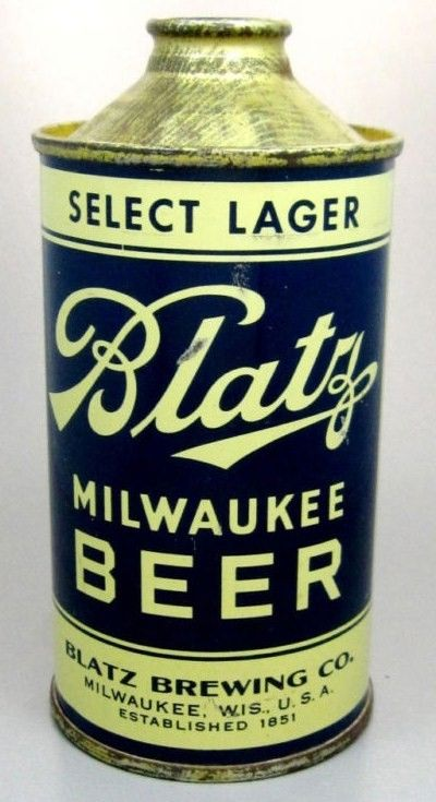 Excellent Blatz Cone Top Beer Can