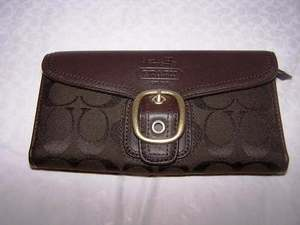 Bleecker Signature Checkbook Wallet Brown 40893