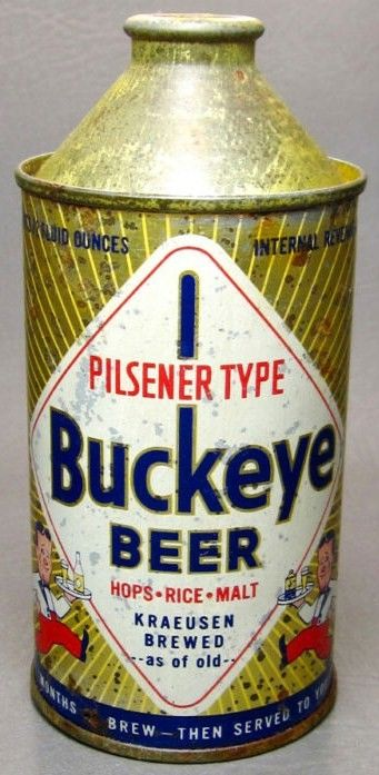 Buckeye Cone Top Beer Can