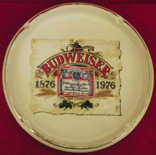Budweiser Ashtray 1876-1976 Centennial