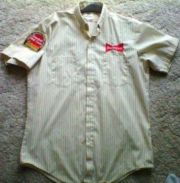 Budweiser Beer Delivery Truck Uniform Shirt