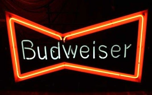 Classic Budweiser Bowtie Neon Sign