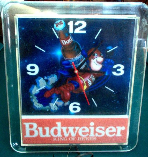 Budman Light up bar clock
