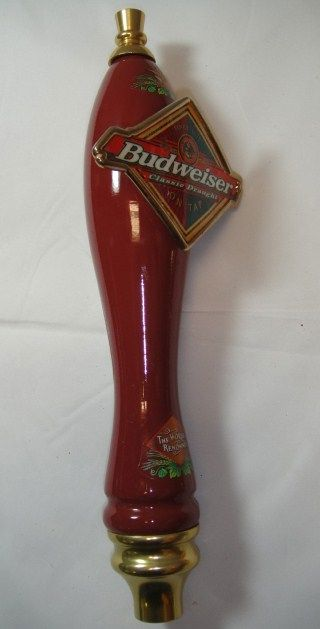 Budweiser Classic Beer Red Tap Handle