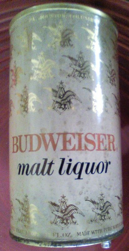 Budweiser Malt Liquor Test Can Pull Tab