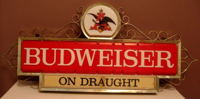 Budweiser Tavern Window Lighted Beer Sign Vintage 60s
