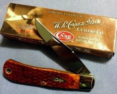 Case XX Chestnut Bone Backpocket Knife w/Box