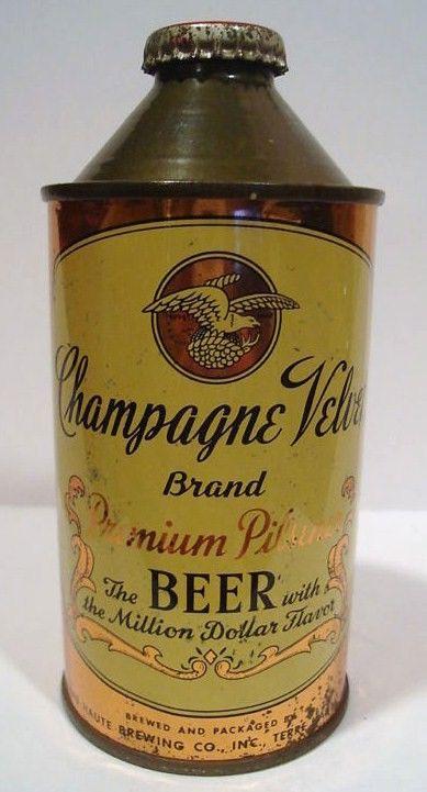 Champagne Velvet Beer Cone Top 1944