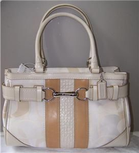 Coach 13337 Optic Signature Stripe carryall