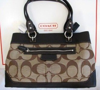 Coach 14422 Penelope Large Shopper Signature Handbag