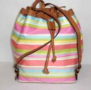 Coach Beach Drawstring Backpack Purse 13554