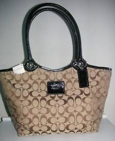 Coach Bleecker Signature Khaki Large Tote